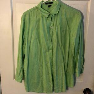 Chaps 100% Linen Shirt